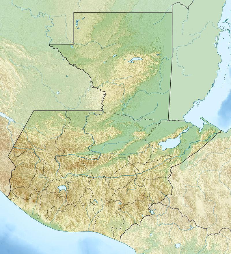 fiziki harita guatemala sehirler.