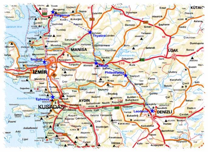 Türkiye karayolları, uydu haritası